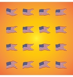 a waving flags set collection of vector image