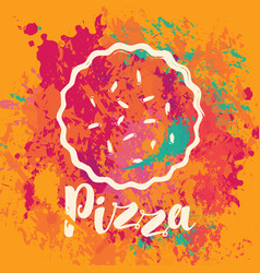 Banner for pizza on the abstract background vector