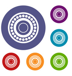 bearing icons set vector image vector image