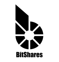 Bitshares icon simple style vector