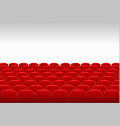 Cinema theatre rows of red velvet seats with vector