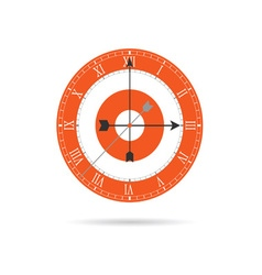 Clock old orange vector