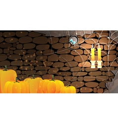 Dark stone dungeon halloween background vector