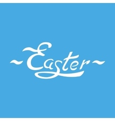 easter hand lettering 003 vector image vector image