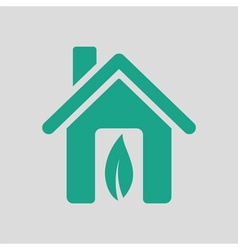Ecological home leaf icon vector image