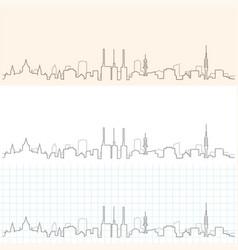 Hanover hand drawn skyline vector
