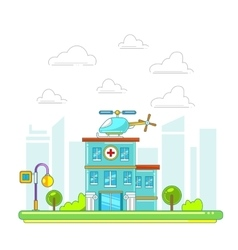 Hospital building in flat style vector