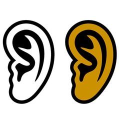 Human ear symbols vector