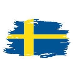 Isolated swedish flag vector