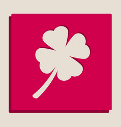Leaf clover sign grayscale version of vector