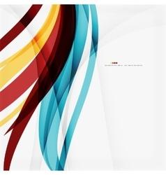 Modern blue and orange color shape composition vector image vector image