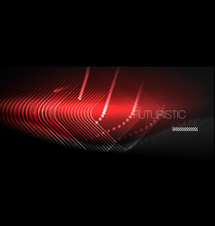 neon glowing techno lines vector image