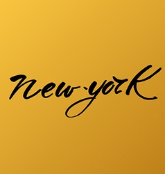 new york love text vector image vector image