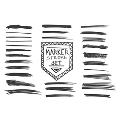 Permanent marker Marker stroke vector image