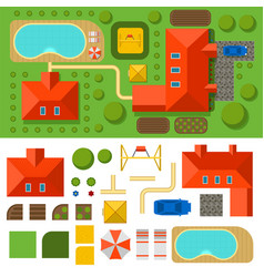 plan of private house top view vector image