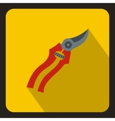 Pruner icon in flat style vector