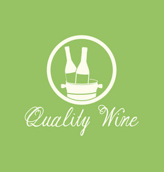 Quality wine alcohol beverage image vector