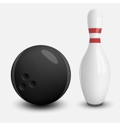 Realistic Ball and Pin of Bowling vector image vector image