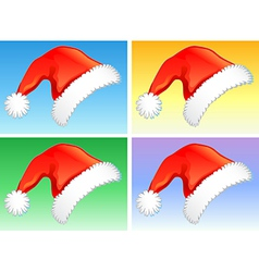 red christmas hats vector image vector image