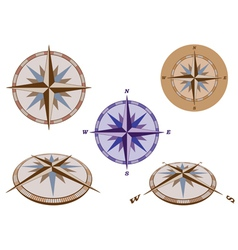 retro compasses vector image