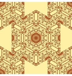 Seamless print abstract symmetrical doodle vector