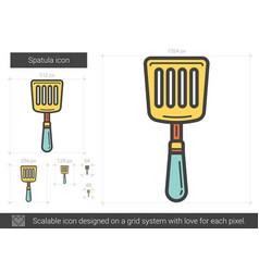spatula line icon vector image vector image