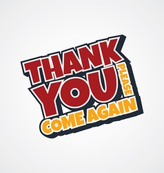 thank you sign vector image