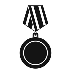 Winning medal icon simple style vector