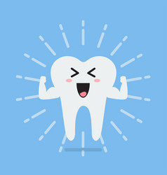 Happy healthy and strong tooth vector