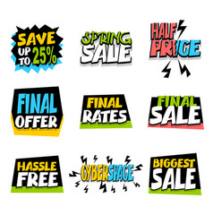 sale super big collection label discount vector image