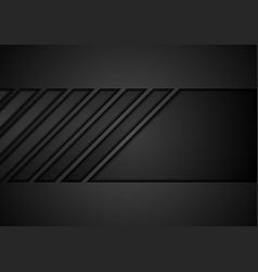 Black tech geometric abstract background vector