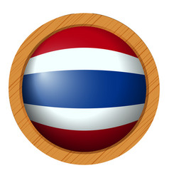 thailand flag on round badge vector image