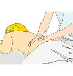 Back massage vector