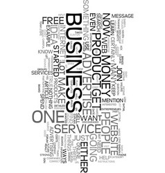 Your own business if not now when text word cloud vector