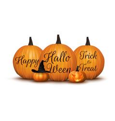 Halloween background with pumpkin vector
