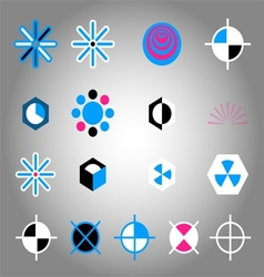 Collection of colorful icon element vector