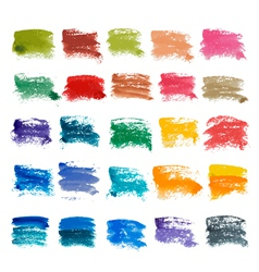 Brush strokes set vector
