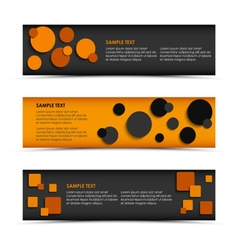 Abstract horizontal banners with rounds and vector