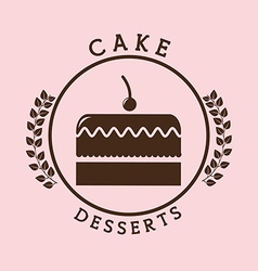 Bakery seal product vector