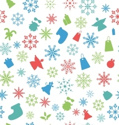 Christmas seamless pattern with traditional vector