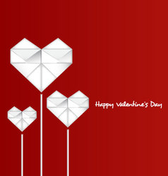 Happy valentines day with paper heart vector