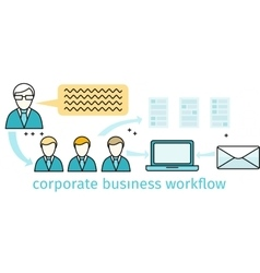 Corporate business workflow banner vector