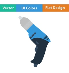 Flat design icon of electric drill vector