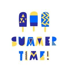 Summer Poster Design vector image