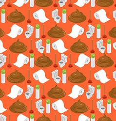 Toilet background shit and toilet seamless pattern vector