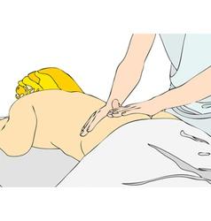 Back massage vector