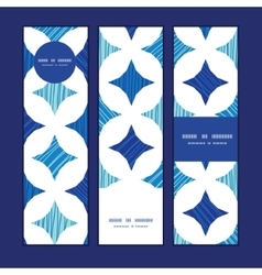 Blue marble tiles vertical banners set pattern vector