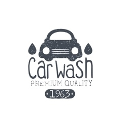 Carwash vintage stamp vector