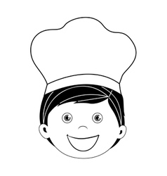 Child dressed as chef icon image vector