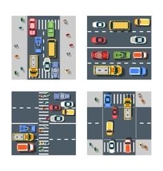 city street with asphalt vector image vector image